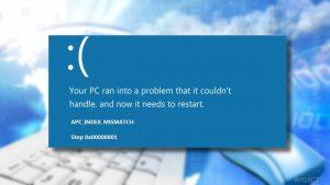 Jak naprawić BSOD APC_INDEX_MISMATCH w systemie Windows 10?