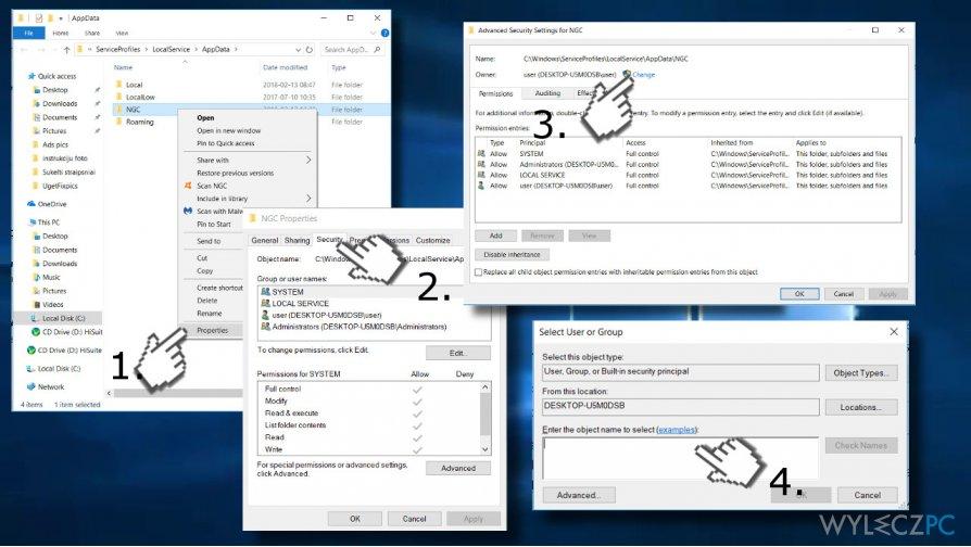 Remove NGC folder's content