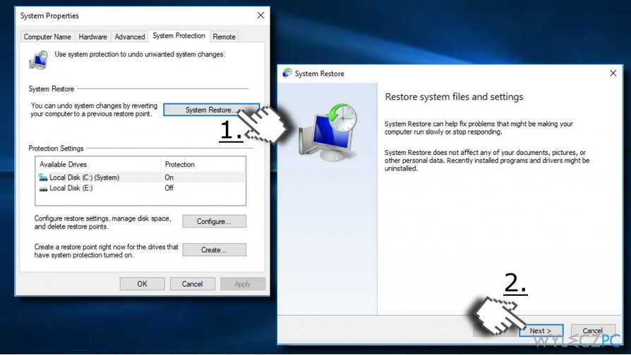 Enable System Restore