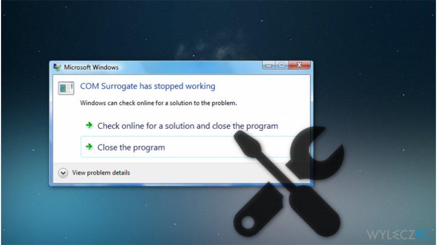 """""""COM Surrogate has stopped running"""" error"""