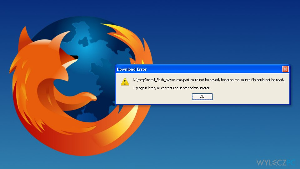 """""""Source file could not be read"""" error on Firefox"""
