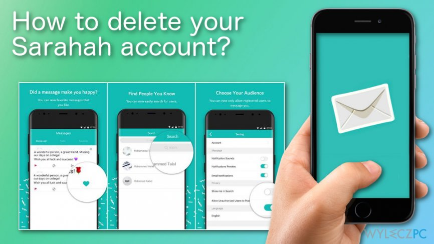 How to delete your Sarahah account?