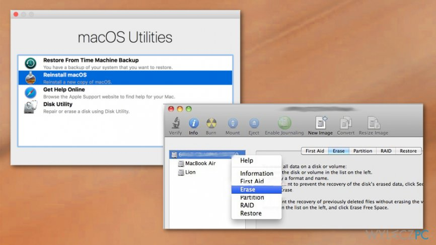 MacOS reboot options