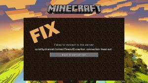 Jak naprawić błąd Minecrafta io.netty.channel.ConnectTimeoutException przekroczono limit czasu połączenia?
