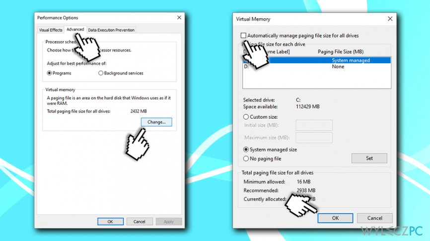 Disable automatic page size management