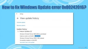 Jak naprawić błąd Windows Update, 0x80242016?
