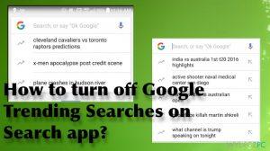 Jak wyłączyć w wyszukiwarce Wyszukiwania zyskujące popularność w Google?