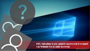 Jak naprawić brak formularza logowania na ekranie logowania Windows?