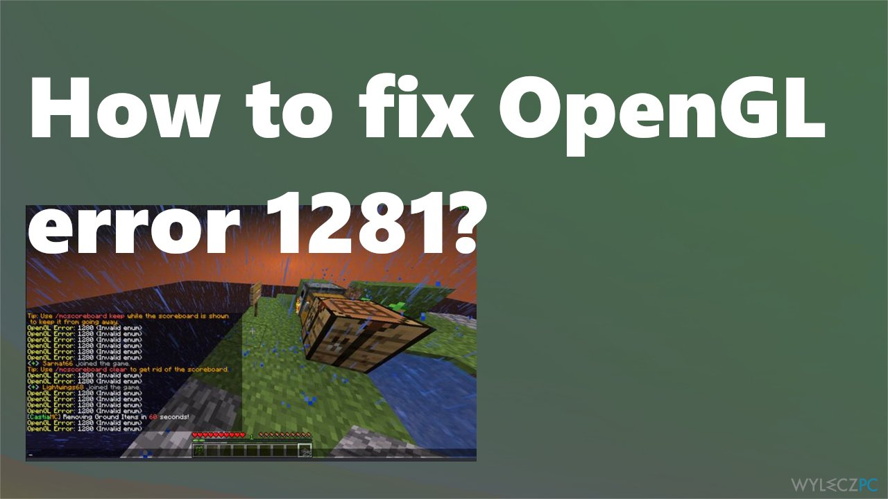 Minecraft OpenGL error 1281 fix