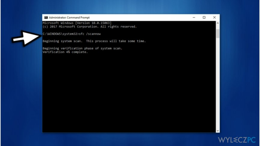Run system scan via Command Prompt on Windows 10