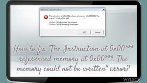 """Jak naprawić błąd """"Instrukcja w 0x00*** odnosi się do pamięci w 0x00***. Pamięć nie może zostać nadpisana""""?"""