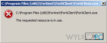 """How to Fix """"The Requested Resource is in Use"""" Error?"""