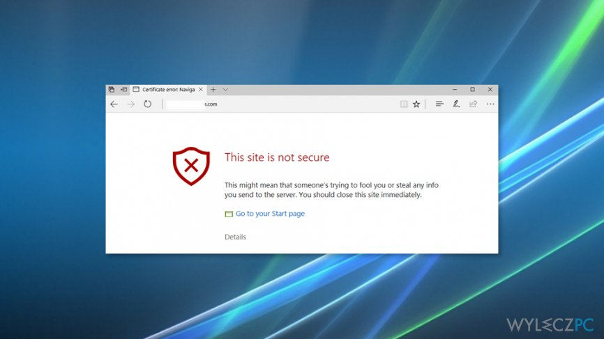 "How to Fix ""This site is not secure"" pop-up with an error code DLG_FLAGS_SEC_CERT_CN_INVALID?"