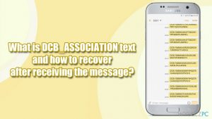 Czym jest wiadomość DCB_ASSOCIATION i co zrobić po jej otrzymaniu?